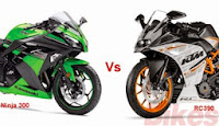 Bike Comparison Video: Kawasaki Ninja 300 versus KTM RC 390