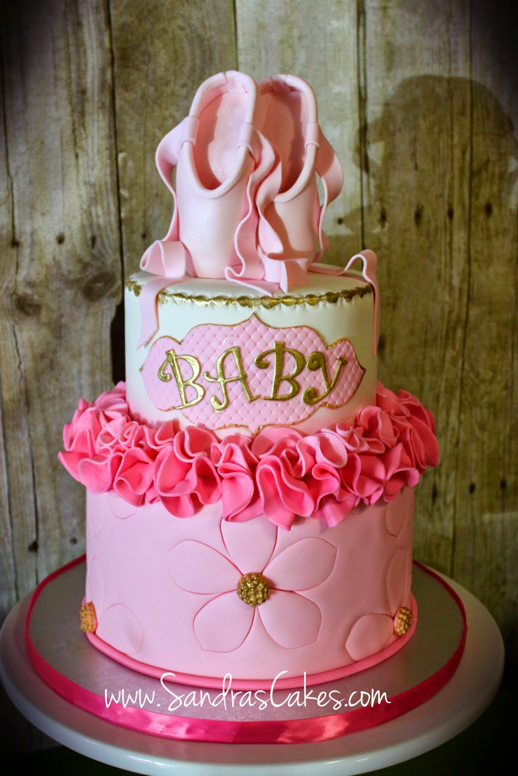 sandra 39 s cakes ballerina themed baby shower cake