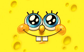 SpongeBob Cute Smiling Minimal HD Wallpaper