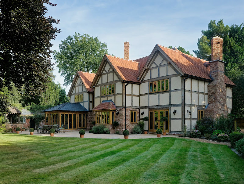 From little acorns oak framed manor house for Manor home plans