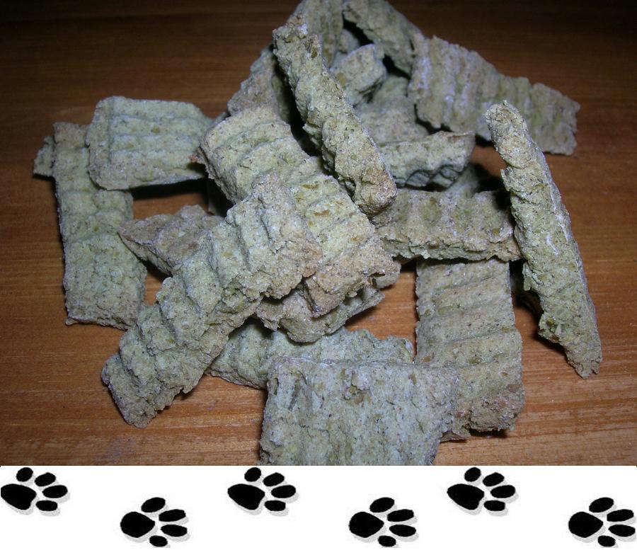 biscotti per cani ai piselli