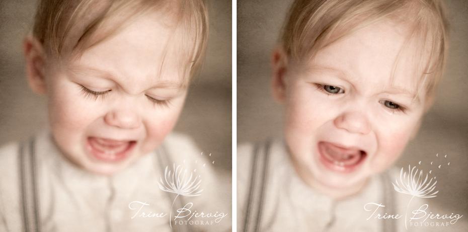 Bilder av liten gråtende gutt, fotograf Trine Bjervig, Tønsberg, Nøtterøy, Tjøme