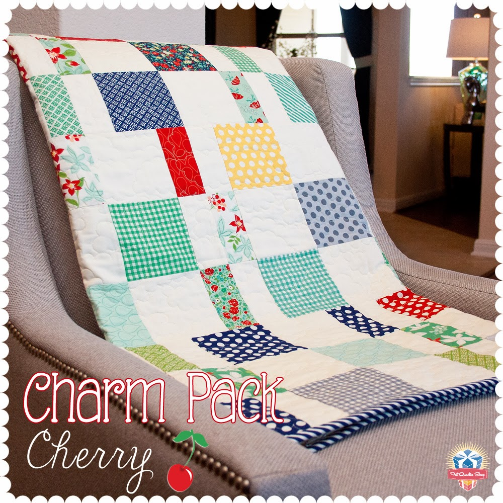 Quilting Patterns Charm Packs : Spun Sugar Quilts: Charm Pack Cherry Quilt - Sugar version