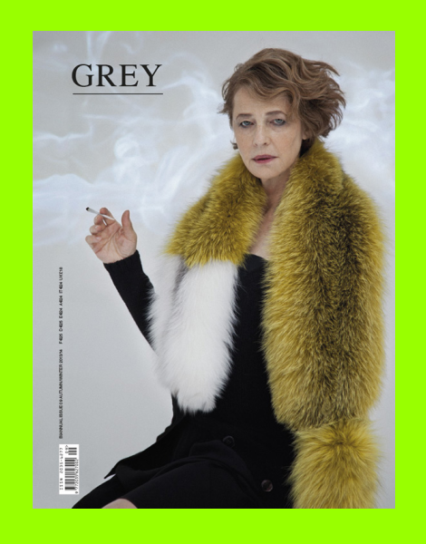 Charlotte Rampling for Grey Magazine No.9