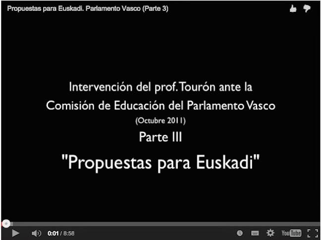 Comisión de Educación del Parlamento de Euskadi