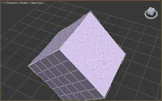 Uniendo vértices de una caja usando target weld en 3ds max