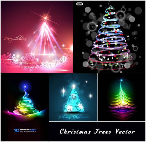Pohon Natal - Christmas tree Vector