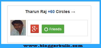 Google + Badge Follower Widget With Profile Pic