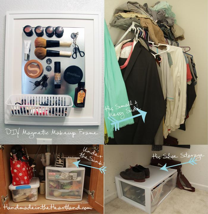 Closet & Bathroom Organization Ideas