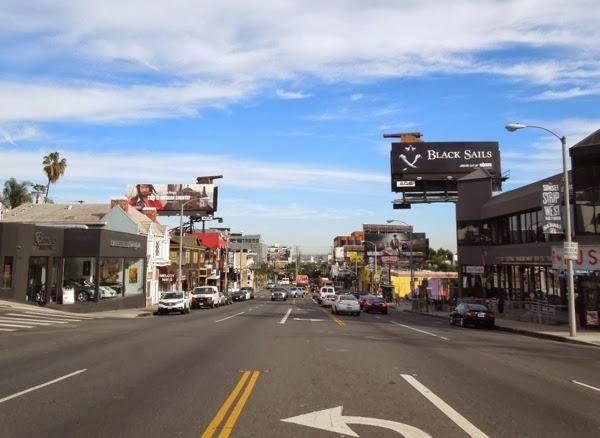 Black Sails special cannon installation billboards Sunset Strip