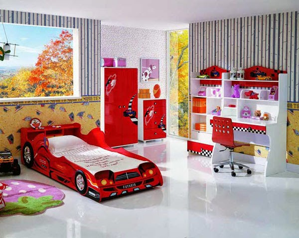 desain tempat tidur bayi laki-laki