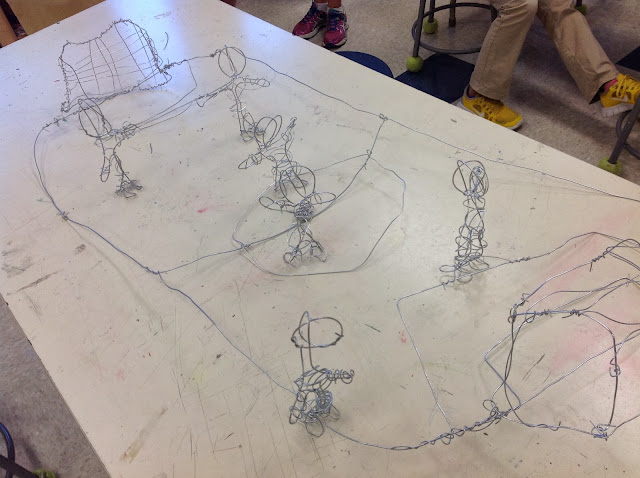 Middle School Wire Sculpture Art