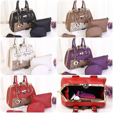 DIOR BAG ( 3 IN 1 SET ) - BLACK , WHITE , KHAKI , RED , PURPLE