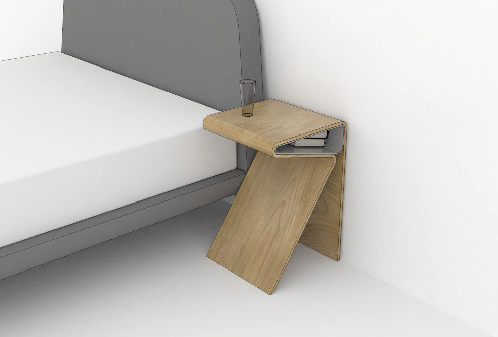 Kirsty whyte design studio for Plywood bedside table