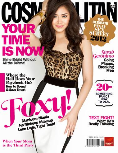 Sarah Geronimo covers Cosmopolitan PH June 2013 issue