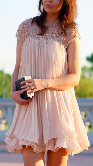 Pretty embellished chiffon dress