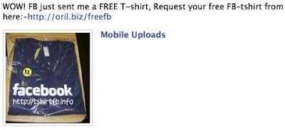 Facebook spam besplatne majice