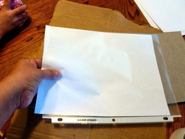 Pizarra blanca reciclada en Recicla Inventa
