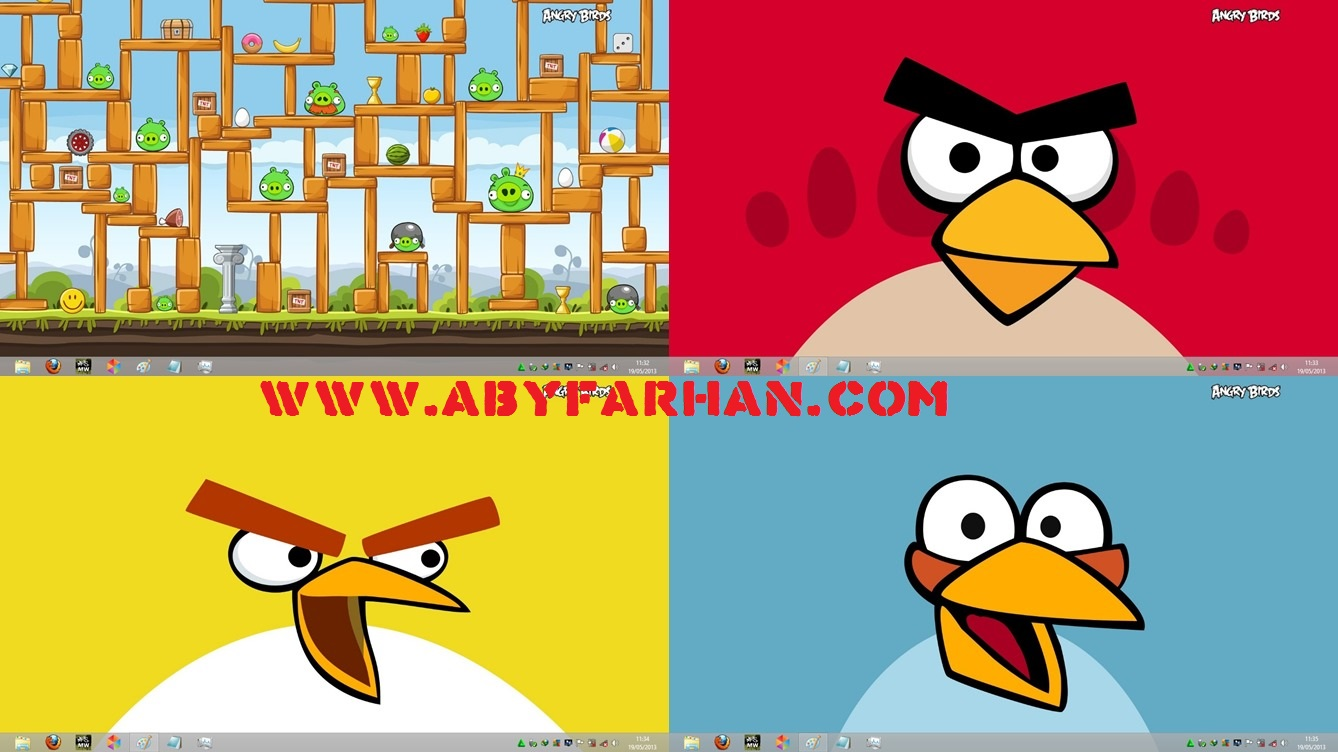 Download Theme Angry Birds for Windows 7 8