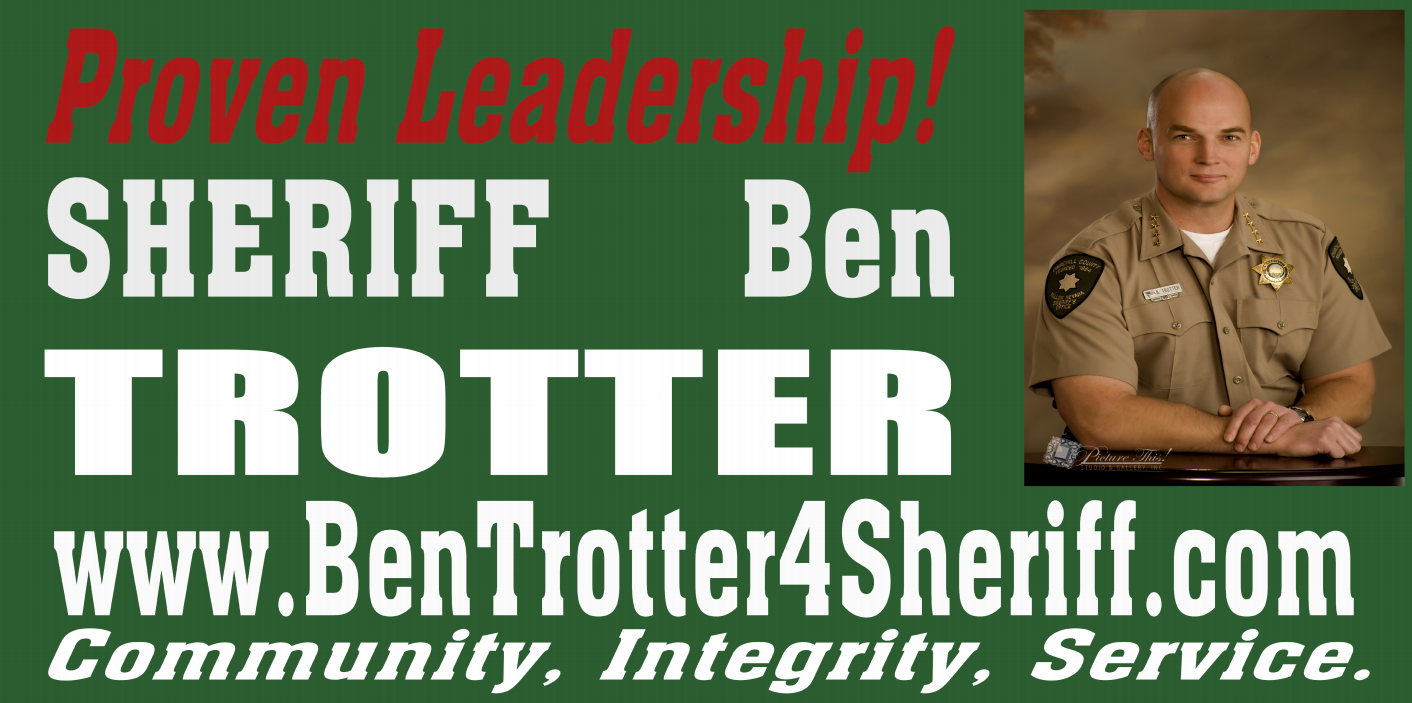 Sheriff Trotter Election Banner | Banners.com