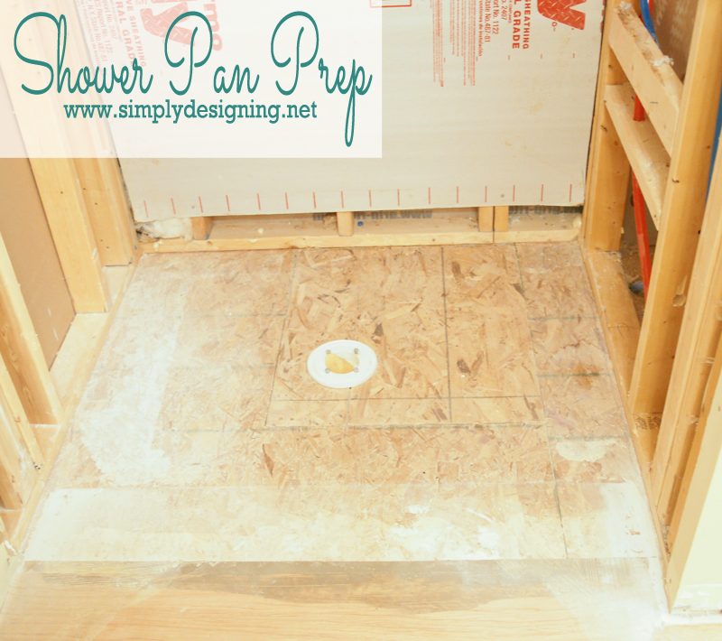 Master Bathroom Remodel: Part 4 { Building a Shower Pan }