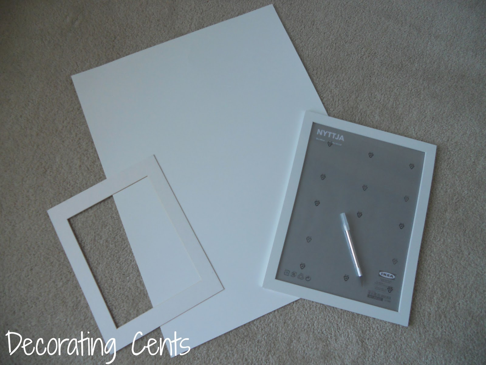 Decorating Cents: DIY Photo Mattes