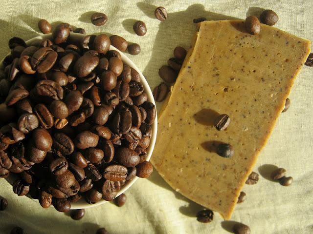 Detalle jabón de café