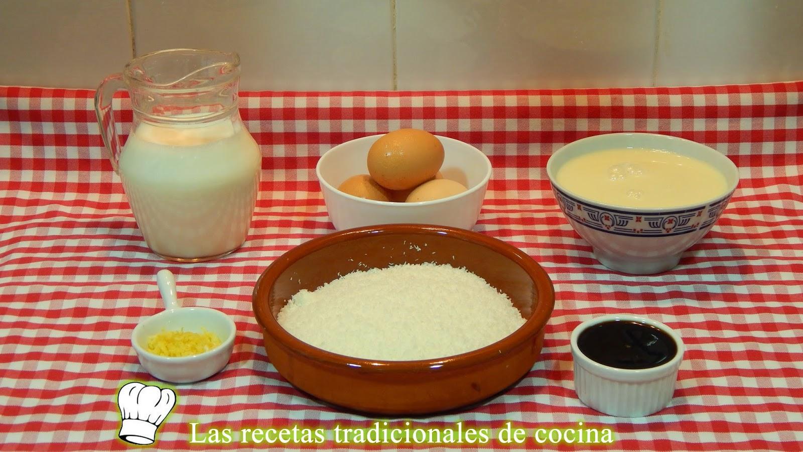 Receta fácil de flan de coco
