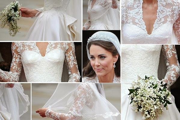 Miss Middleton's wedding dress in details