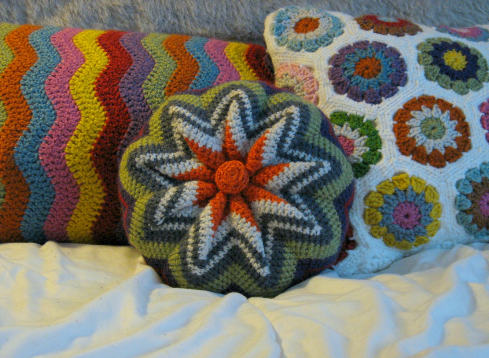 Crochet Pinwheel Pillow