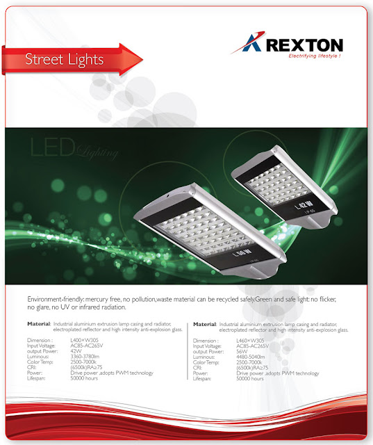 LED Street Lights by Rexton Technologies