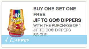 Rare Coupon: B1G1 Free Jif To Go Dippers