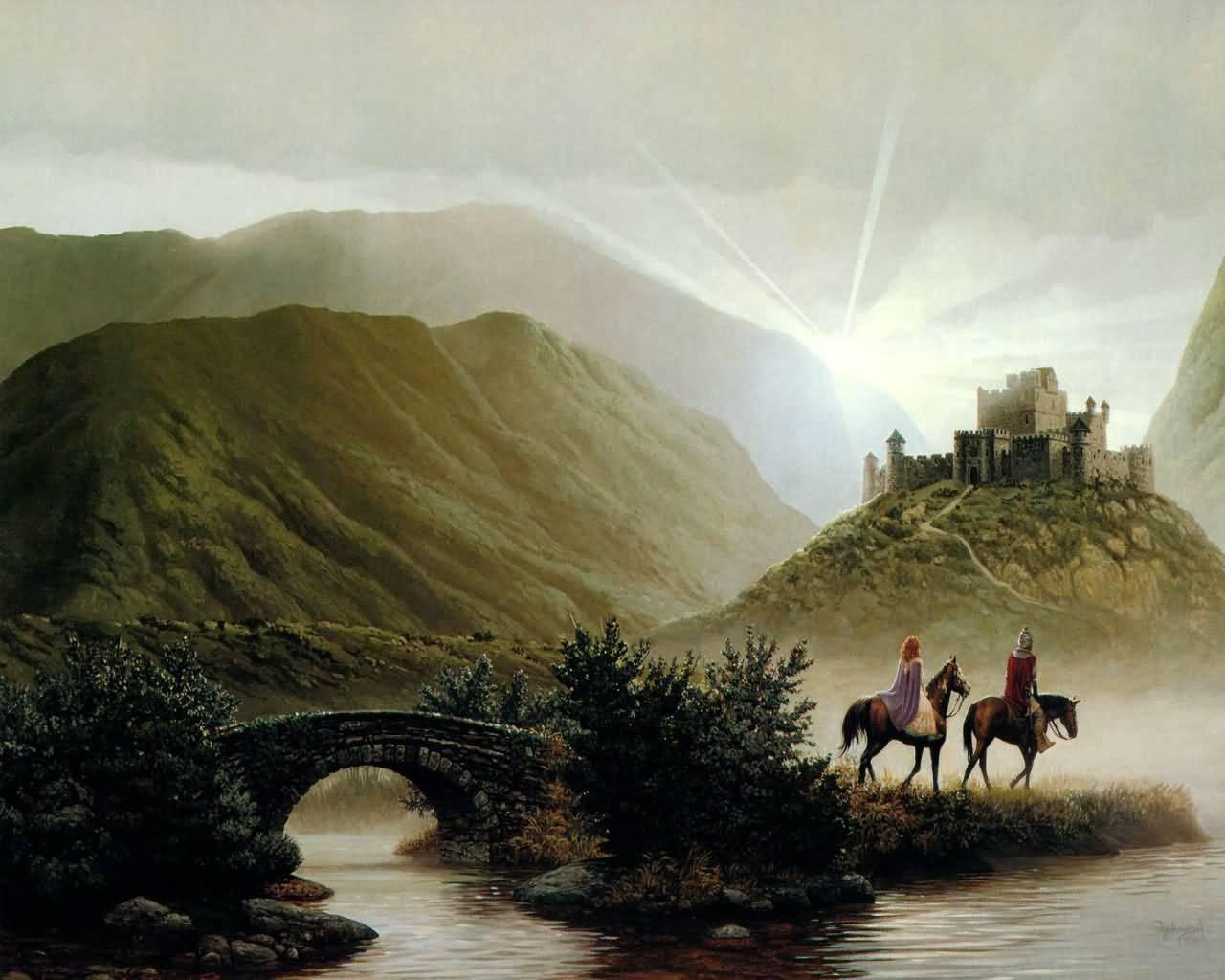 Fantasy Castles Landscape Wallpapers