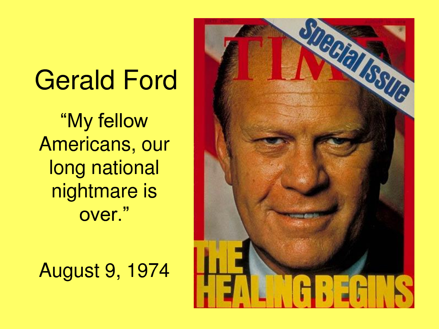 should ford have pardoned nixon essay