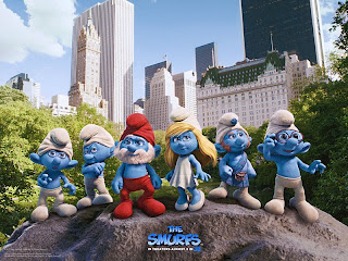 The Smurfs official movie poster