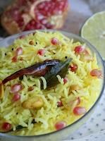 Arroz Indiano com Limão, Amendoim e Romã (vegana)