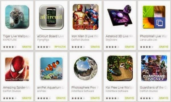 Aplikasi Live Wallpaper di Android Terbaik