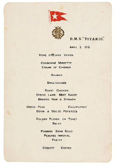 Attempted Bloggery Lunch On The Titanic