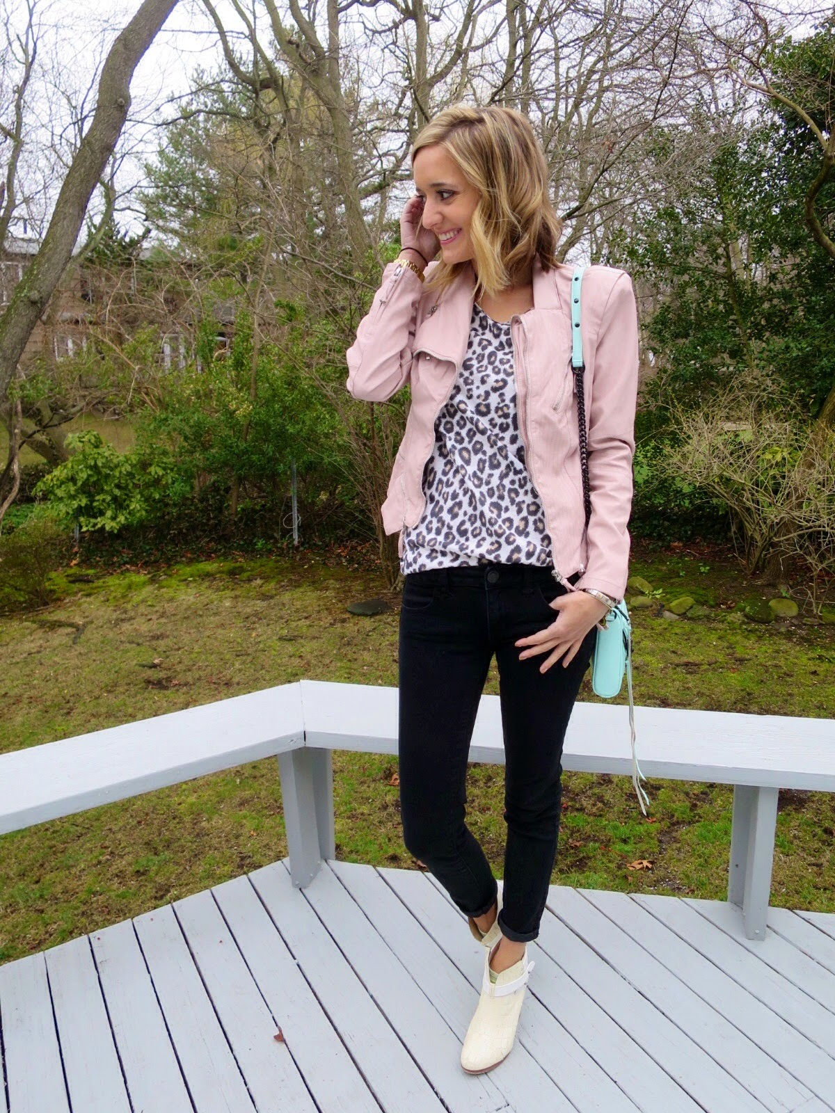 pink & leopard outfit