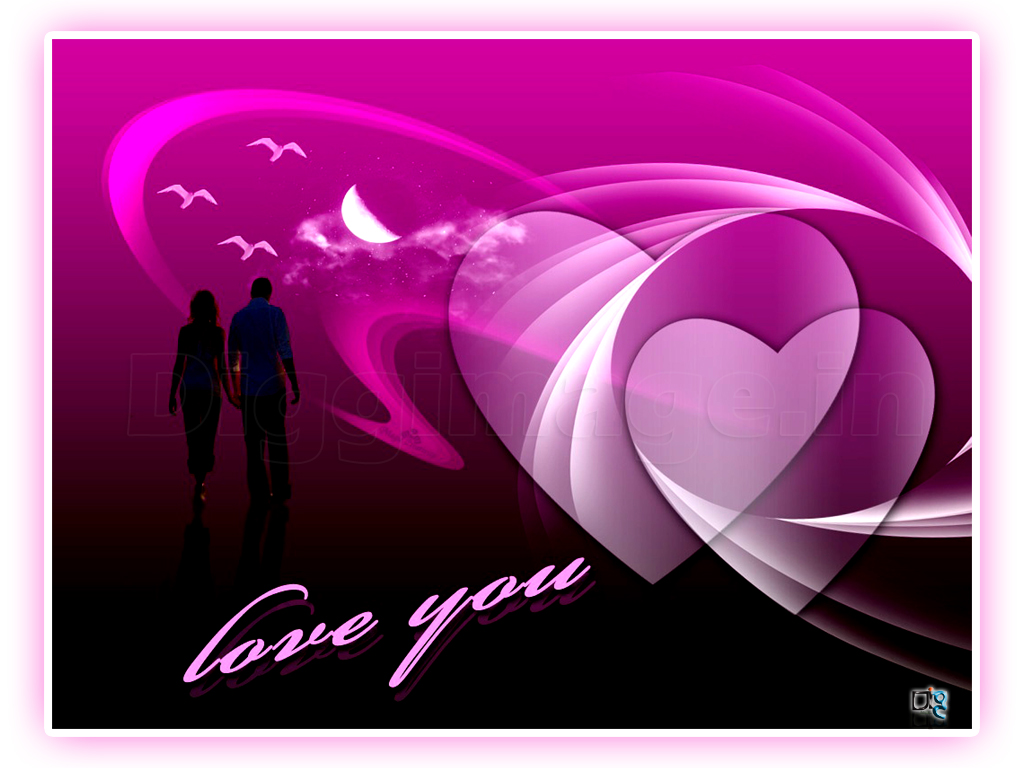 3d Love Wallpaper For Valentines With Cute Color In Romantic