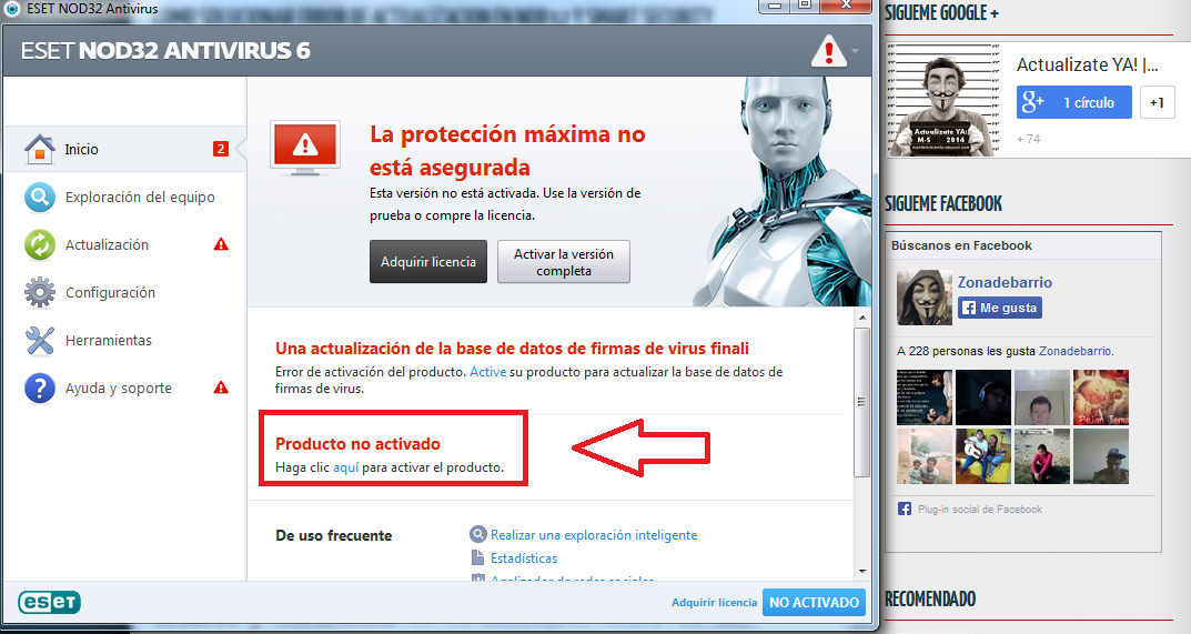 Cómo Cambiar Clave ESET NOD32 Smart Security