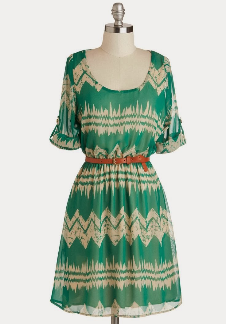 Green Dress - Mountain Dwelling - ModCloth