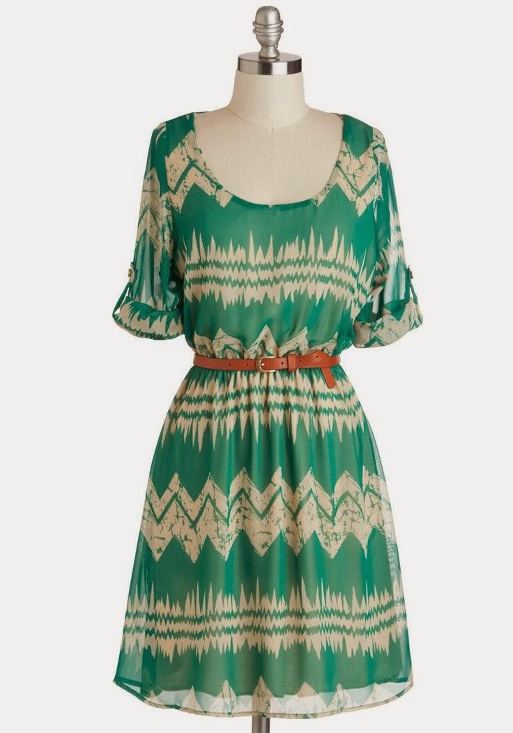 Green Dress - Mountain Dwelling - ModCloth