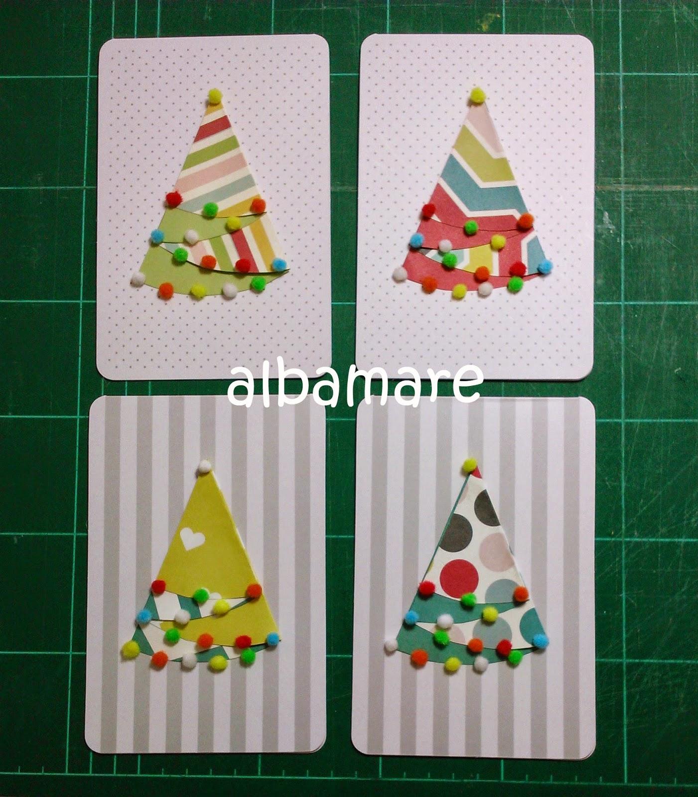 Albamare manualidades handicrafts diy c mo hacer una - Hacer una tarjeta navidena ...