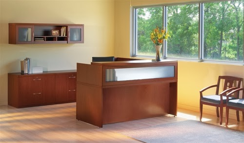 Mayline Aberdeen Series Laminate Reception Desk