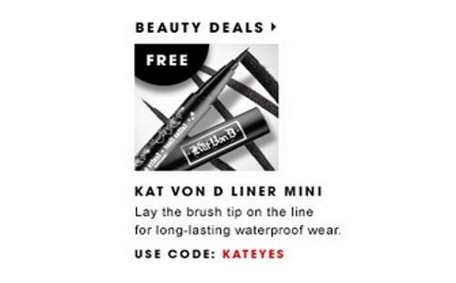Kat von d coupon code