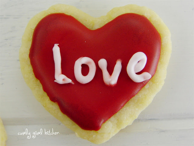 Lemon Shortbread Valentines Cookies