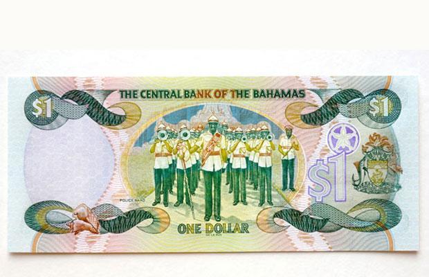 Bahamian one dollar note