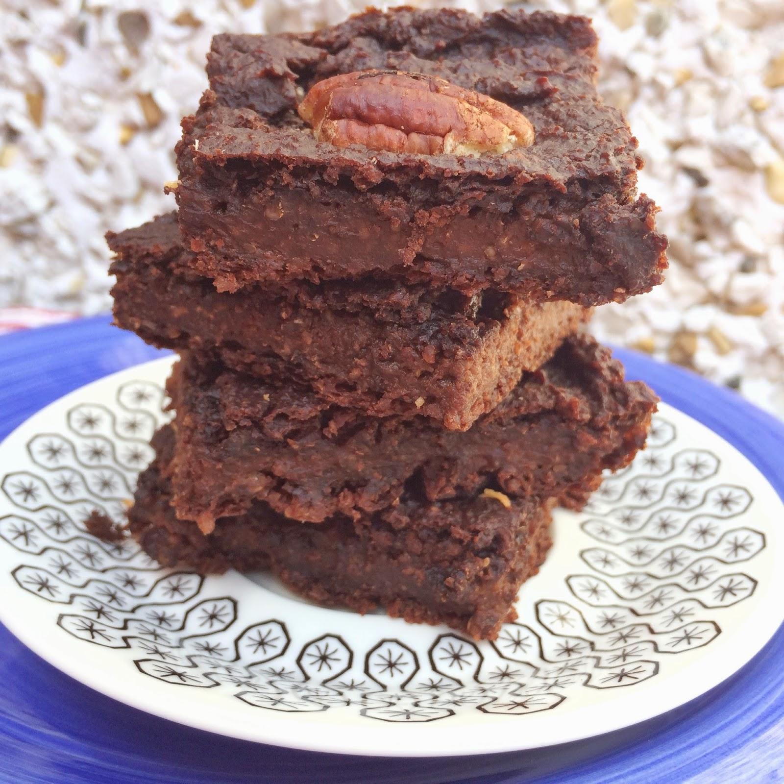 jaglane brownie, ptysiu mietowy