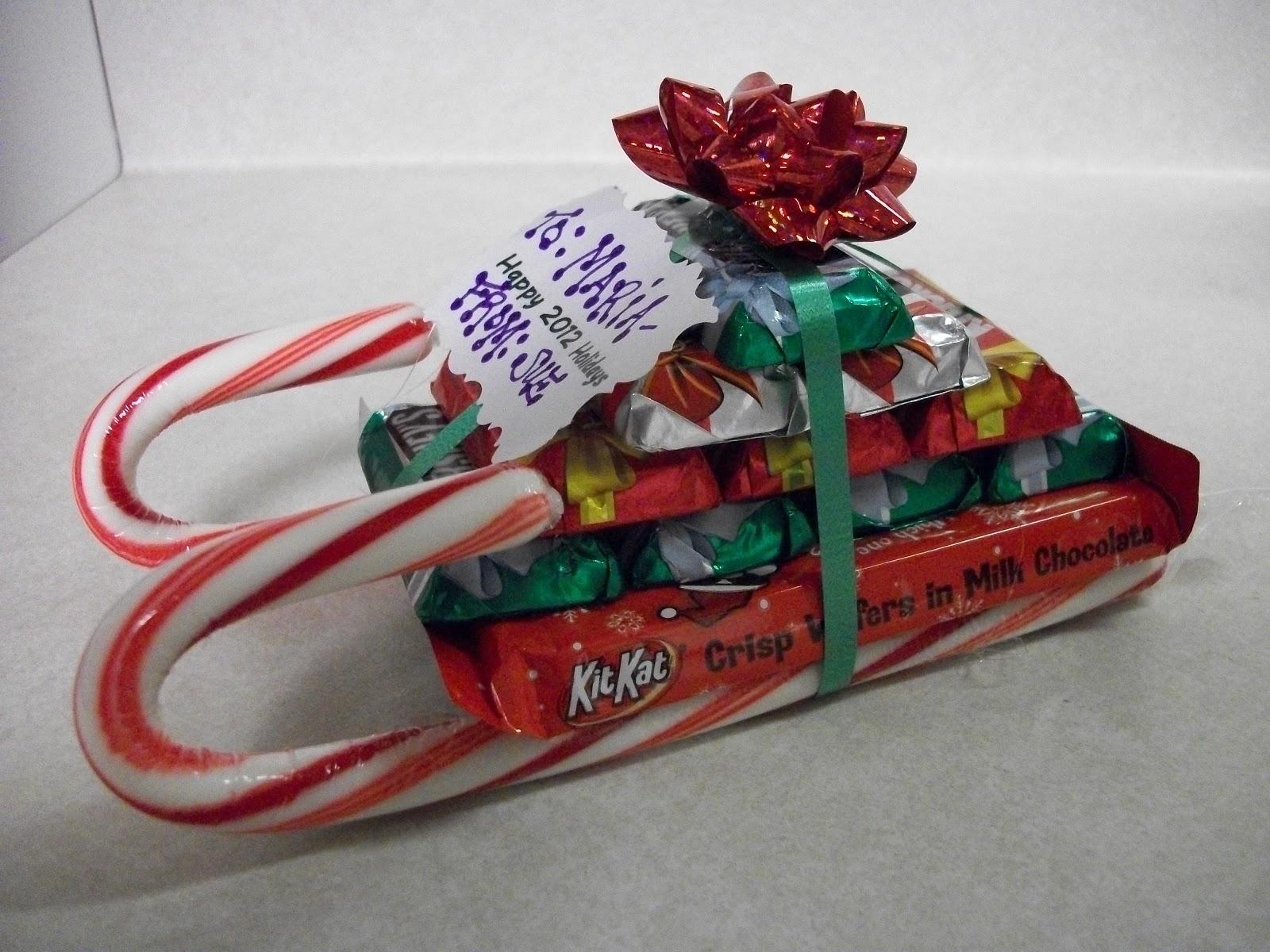 Krafty Cards etc.: Candy Cane Sled Gift Idea
